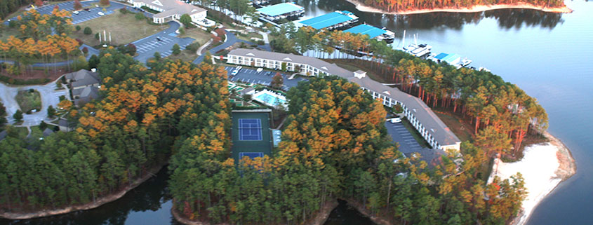 Savannah Lakes Village Property Holdings - Resort Peninsula aerial