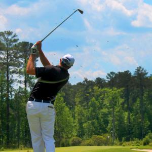 golf player at Savannah Lakes Village